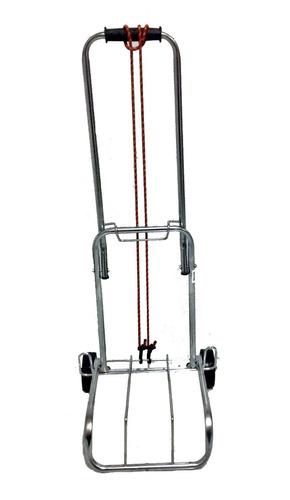 carrinho de mão dobrável bagagem carga 70kg + brinde