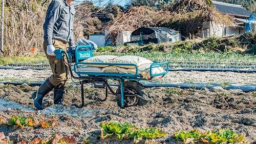 carrinho de mão para transporte a bateria 18v makita