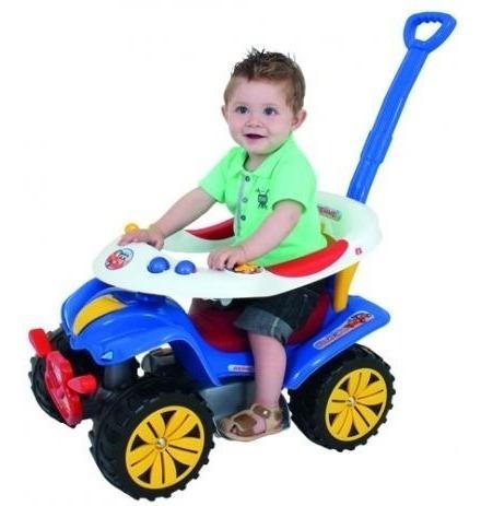 carrinho de passeio andador infantil biemme dudu car azul