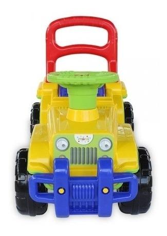 carrinho de passeio jip jip básico colorido com som maral