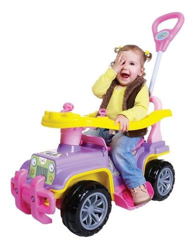 carrinho de passeio jip jip empurrador haste direcionável