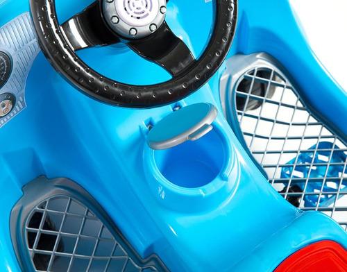 carrinho de passeio pedal 1300 fouks fusca azul 998 calesita