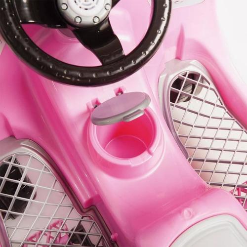 carrinho de passeio pedal 1300 fouks fusca rosa 996 calesita