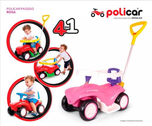 carrinho de passeio policar® rosa - 7058