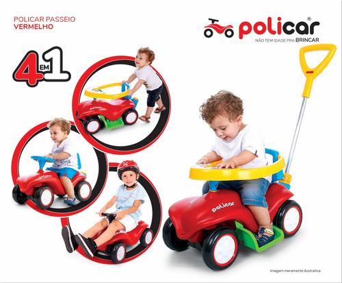 carrinho de passeio policar® vermelho - 7034