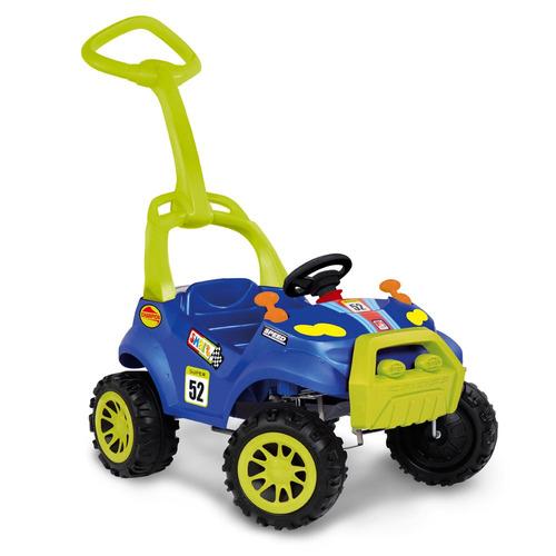 carrinho de passeio smart - azul e verde - super 52 - bandei