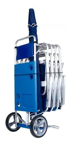 carrinho de praia desmontavel até 5 cadeiras mor