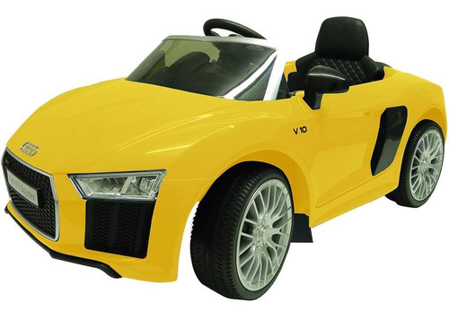 carrinho elétrico xalingo audi r8 1094.3, amarelo