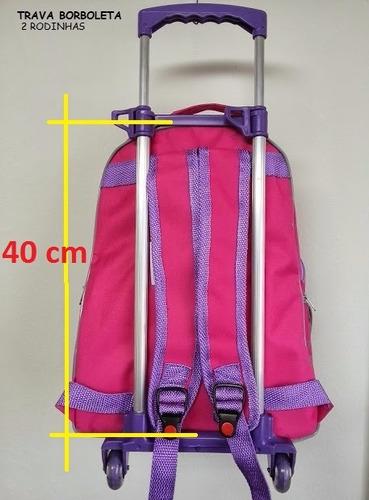 carrinho escolar com rodinha para mochila infantil