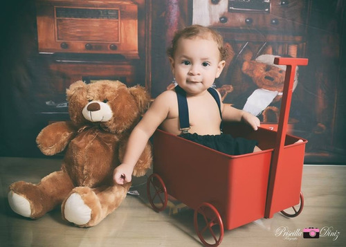 carrinho ferro vermelho prop newborn acompanhamento bebê