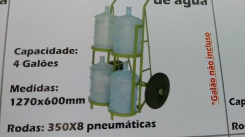 carrinho galão d'agua 2 galões.