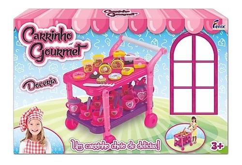 carrinho gourmet doceria infantil prateleira acessorios