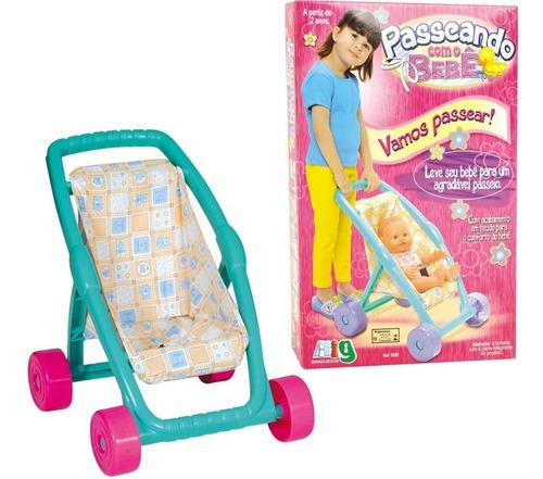 carrinho infantil de boneca passeando com o bebê nig 560