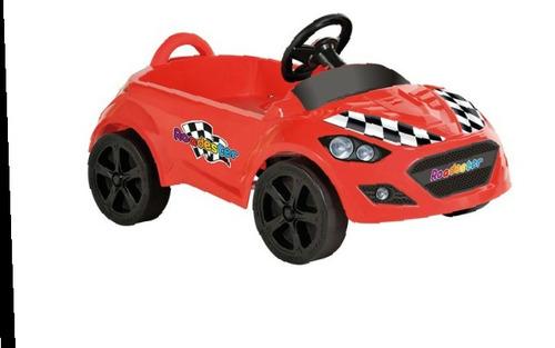 carrinho infantil de pedal vermelho roadster bandeirantes