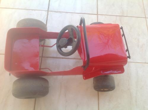 carrinho lata antigo - pedal
