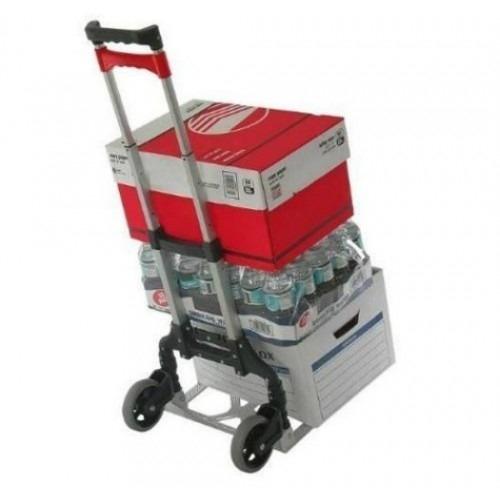 carrinho mao dobravel aluminio alca transporte carga compras