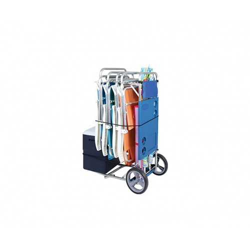 carrinho / mesa de praia mor com suporte caixa térmica