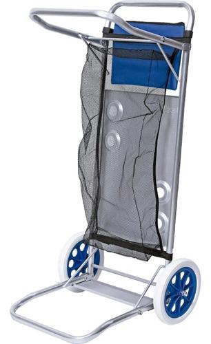 carrinho mesa para praia aluminio