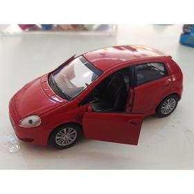 Carrinho Miniatura Fiat Punto Abre Portas Fricção 12cm