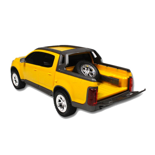 carrinho miniatura s10 rally 1145 rodas cromada amarelo