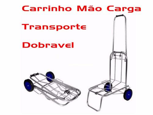 carrinho mão carga transporte dobravel feira compras mercado