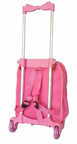 carrinho mochila infantil escolar barbie linda menina oferta