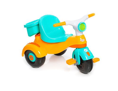 carrinho motoca triciclo velocita classic amarelo - calesita