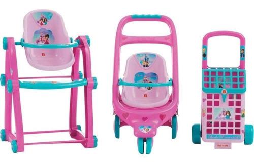 carrinho p boneca biemme kit 3-pcs sonho encantado 069