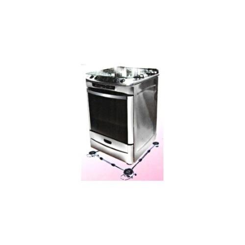 carrinho para fogão e geladeira - pé - gira-fácil - branco