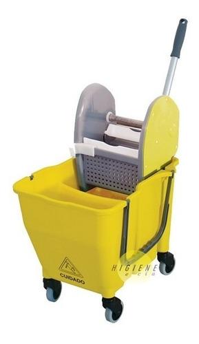 carrinho para limpeza balde espremedor doblô amarelo
