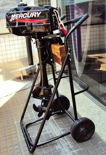 carrinho para motor de popa ate 25 hp ( pronta entrega)