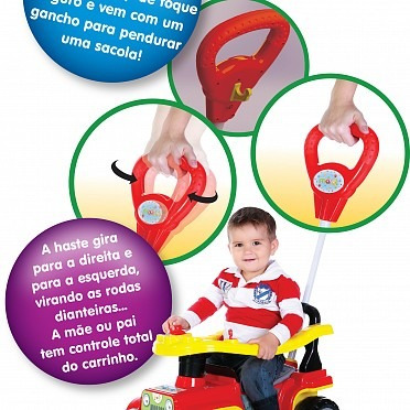carrinho passeio bebê 1 ano jip jip bombeiro maral 2063