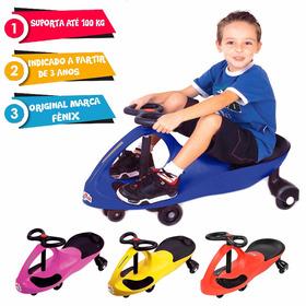 Carrinho Passeio Gira Gira Car Azul Crianças - Fenix