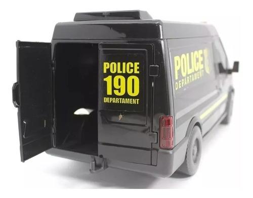 carrinho polícia - supervan police - roma brinquedos