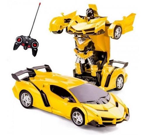 carrinho que vira robo controle remoto transformers robocar