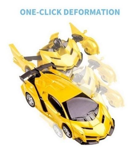 carrinho robo de controle remoto transformers carro robocar