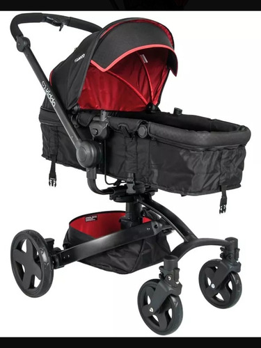 carrinho spin 360 + bebe conforto caracol + base kiddo