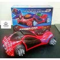 carrinho spyder-man p/meninos carro com luz/som homem-aranha