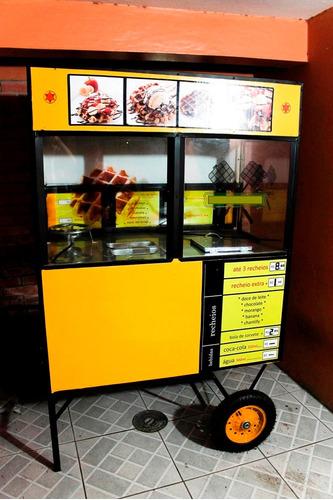 carrinho tapioca trailer de lanches kreps cachorro-quente
