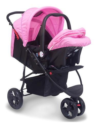 carrinho travel system urban rosa