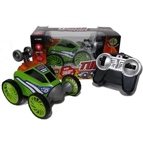 carrinho turbo spin com controle remoto azul vermelho verde
