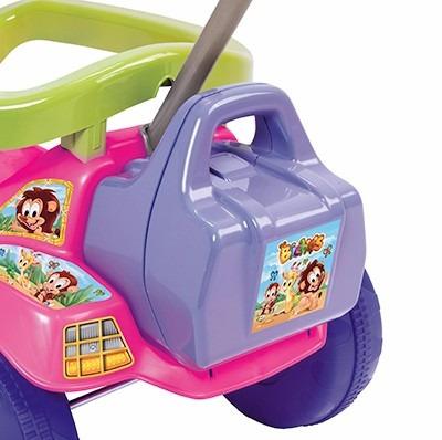 carrinho velotrol com empurrador meninas bebê 2 anos 3515