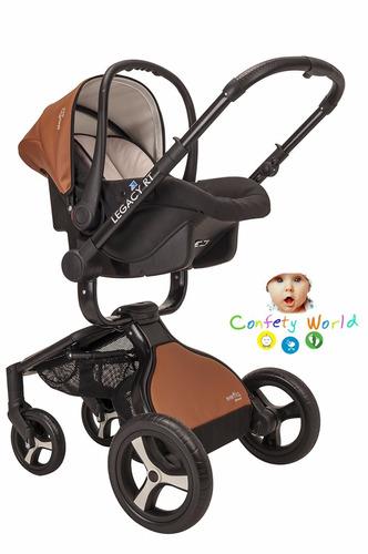 carriola 4 en 1 legacy camel rt evenflo lujo t piel nueva