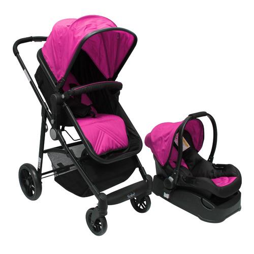 carriola 4 en 1 solee plain fuscia color lifestyle by infant