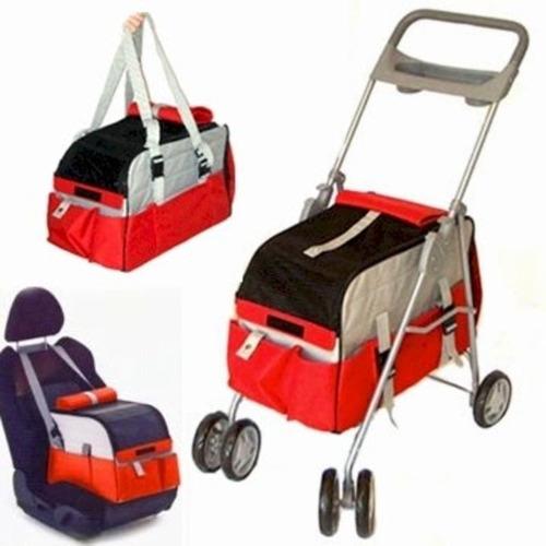 carriola asiento de auto para mascotas petzip 3 en 1