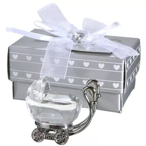 carriola con caja niño baby shower recuerdo bautizo h4078