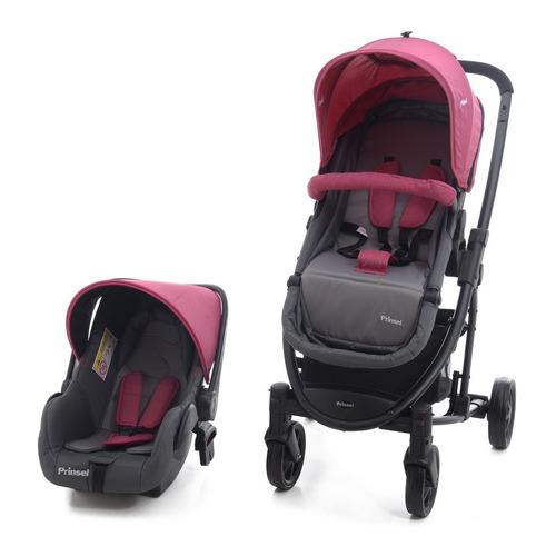 carriola con portabebe prima ts bambineto rosa de prinsel