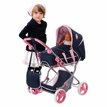 carriola de juguete para muñecas classic julia 3 en 1 hauck