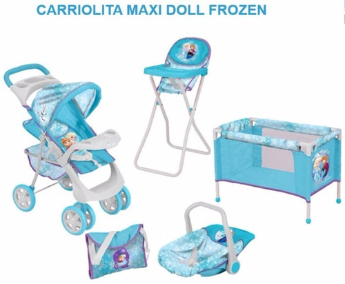 carriola de muñecas combo maxidoll kit frozen  msi