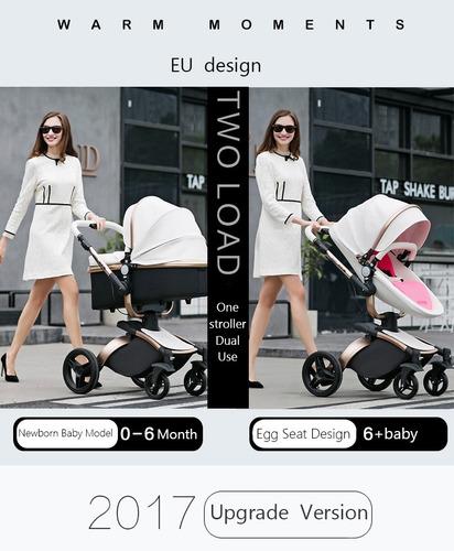 carriola europea piel aulon no hot mom +sombilla + portabebe